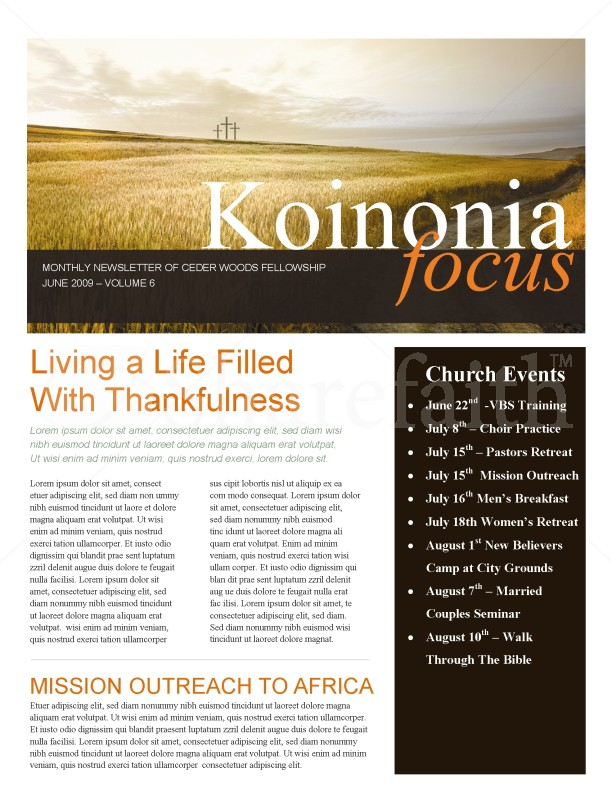 Three Crosses Church Newsletter