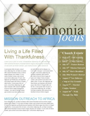 Hand In Hand Church Church Newsletter