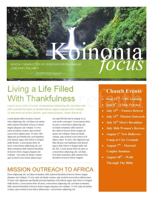 Waterfall Church Newsletter