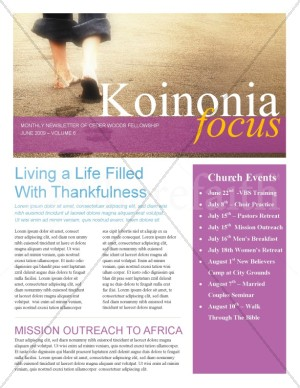 Footsteps On The Beach Church Newsletter
