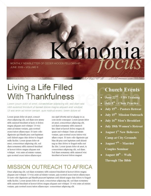 praying hands church newsletter template newsletter templates