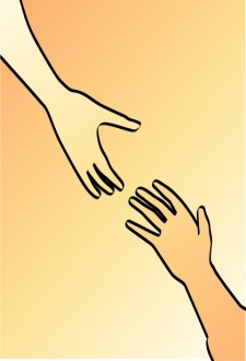 Grasping Hands Religious Clipart