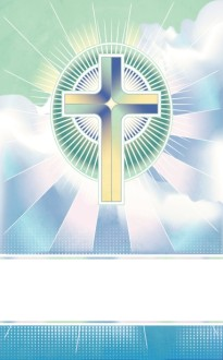 Glowing Cross Bulletin Cover Template