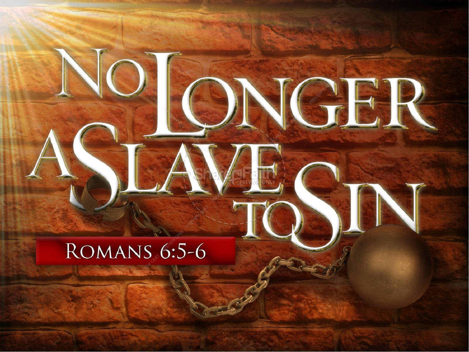 No Longer A Slave PowerPoint Template