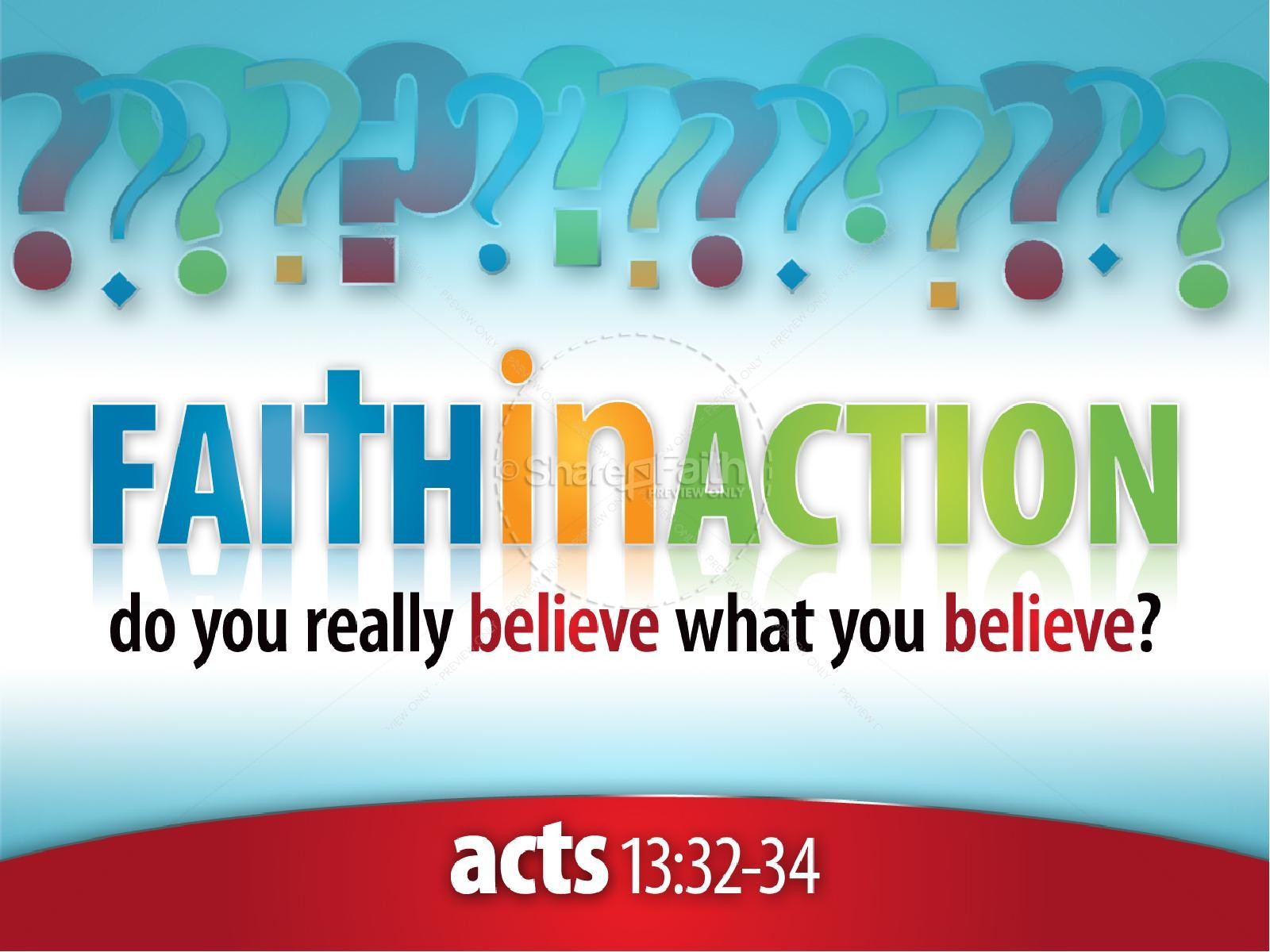 Faith In Action PowerPoint Sermon Template | slide 1