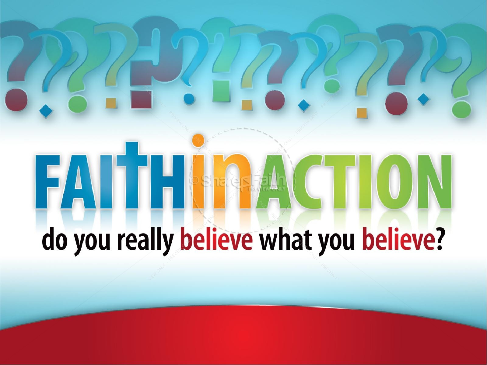 Faith In Action PowerPoint Sermon Template | slide 2