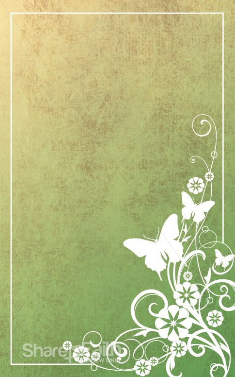 Butterflies and Flowers Bulletin Cover | Easter Bulletins