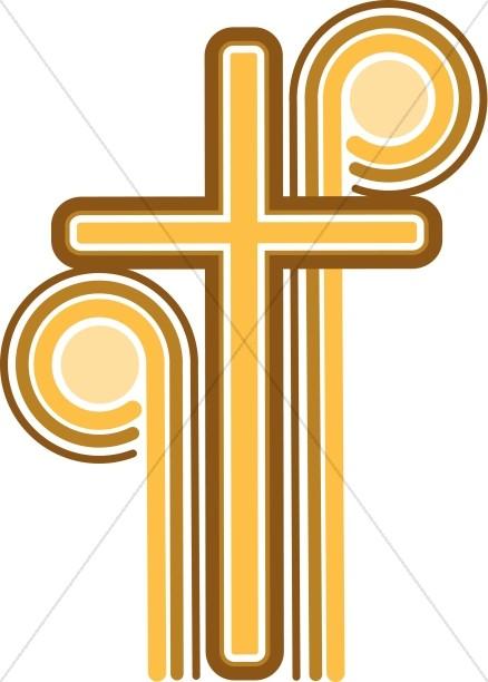 70's Cross Christian Cipart