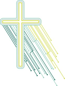 Techno Cross Christian Clipart