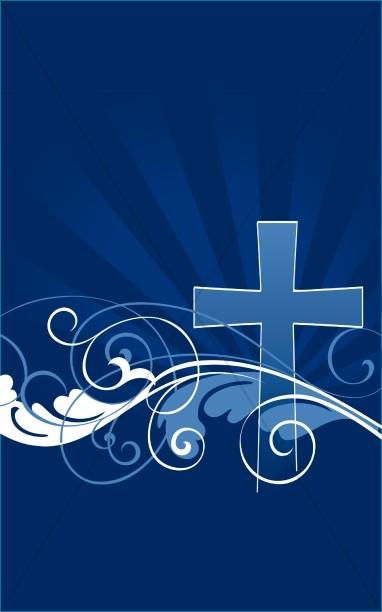 Easter Bulletin Cover Cross Design