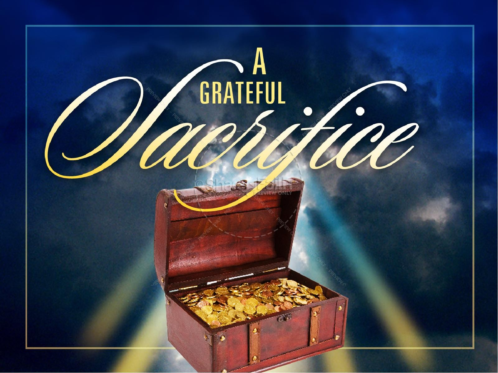 A Grateful Sacrifice Christian PowerPoint