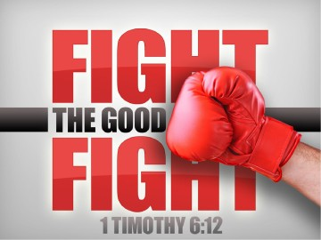 Fight The Good Fight PowerPoint Template
