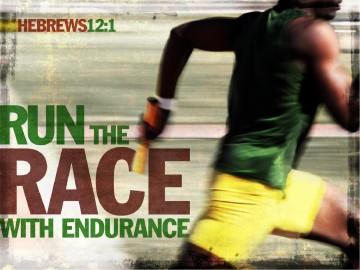 Run The Race With Endurance Christian PowerPoint Template