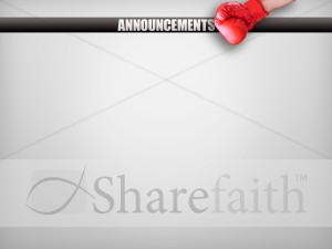 Boxing Glove Church Announcement Screen