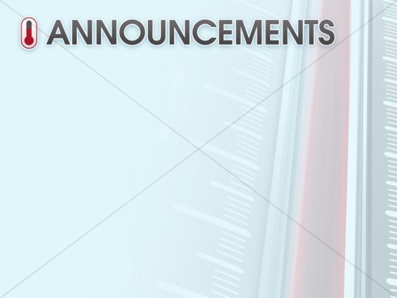 Lukewarm Christian Church Announcement Slide