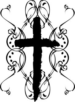 Rough Edge Cross Clipart