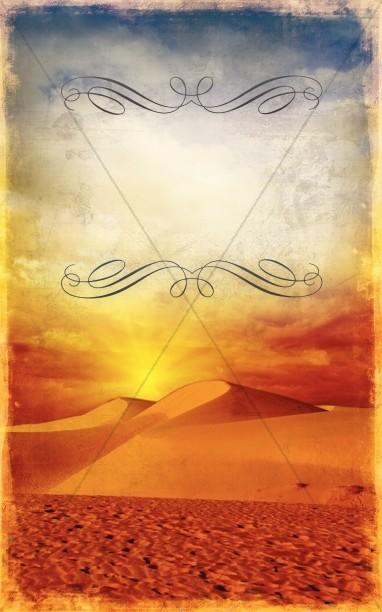 Desert Sunrise Bulletin Cover