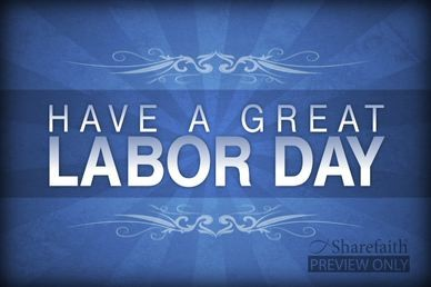 Great Labor Day Church Motion Video Screen