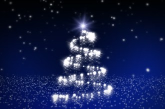 Spiral Christmas Tree Video Background