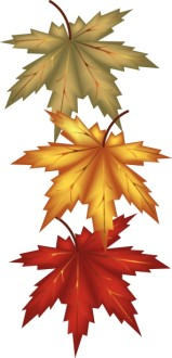 Autumn Leaves Religious Clipart