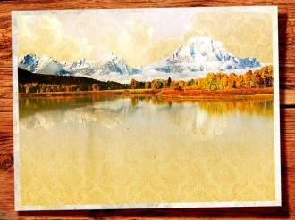 Fall Mountain Lake Church Background Screen