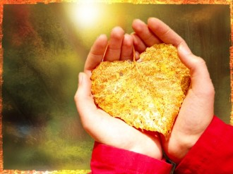 Hands And Leaf Worship Background Image