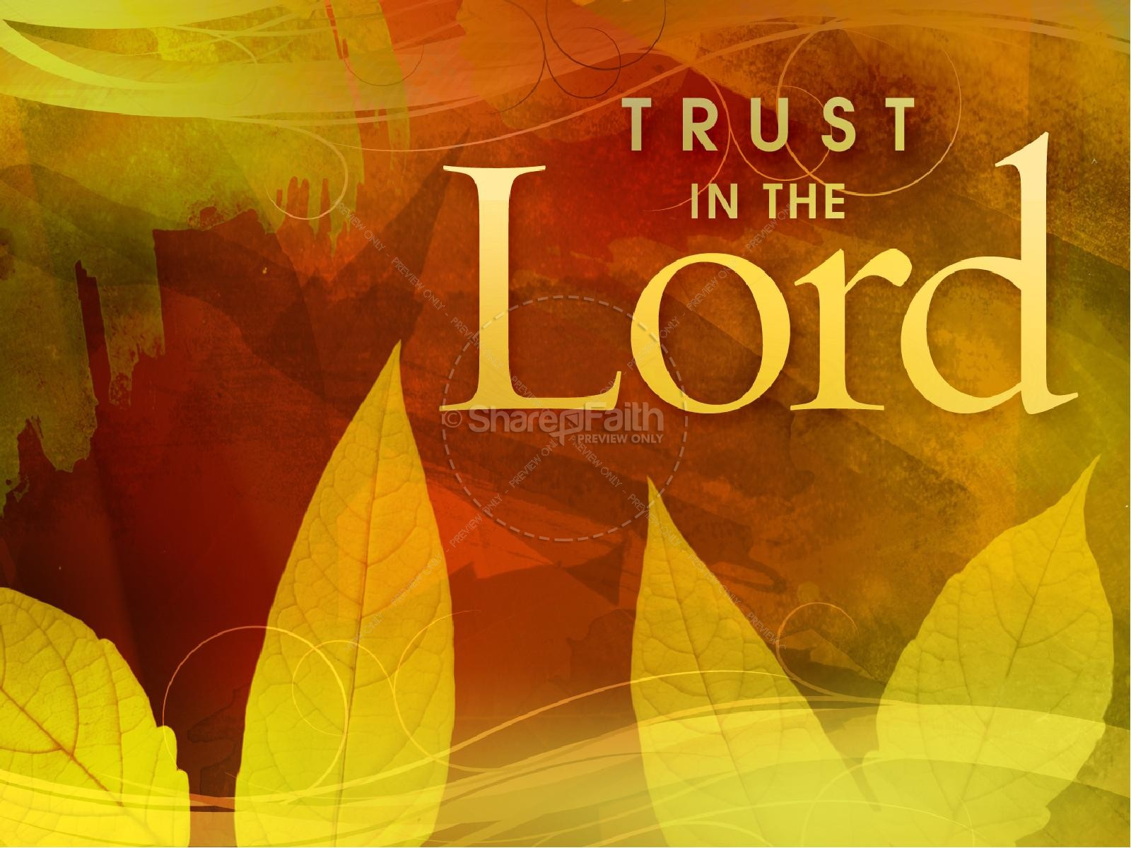 Fall Trust Sermon Presentation