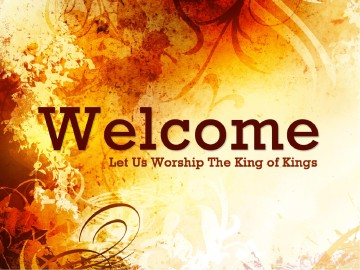 Welcome To Worship Sermon Presentation
