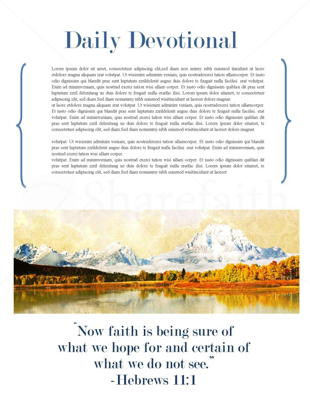 Mountain Scene Church Newsletter