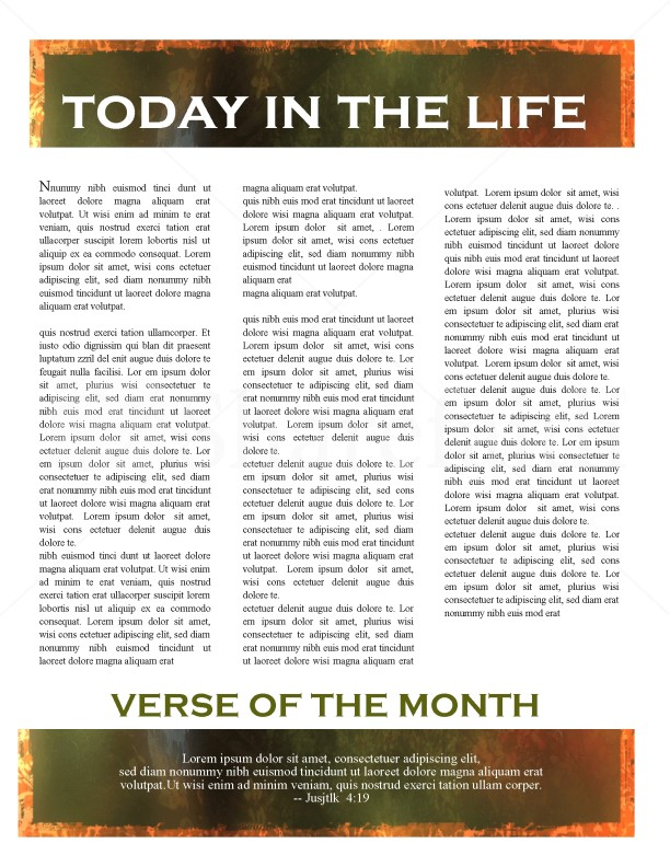 Hands And Leaf Church Newsletter Design