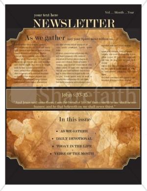 Autumn Church Newsletter Design