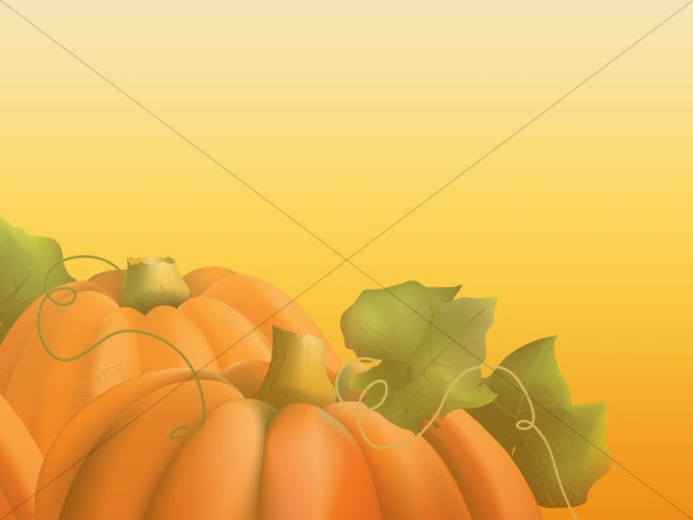 Two Pumpkins Worship Background Image