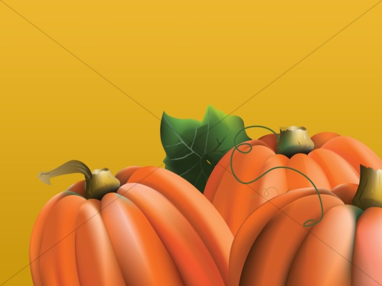 Three Pumpkins Worship Background