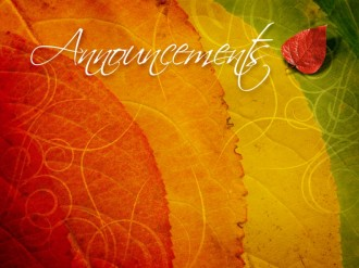 Colors Of Autumn Announcement Slide