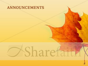 Autumn Leaves Announcement Background