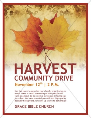 Harvest Community Drive Church Flyer