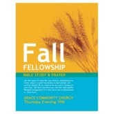 Fall Fellowship Church Flyer
