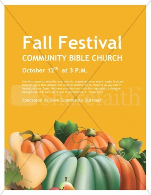 Fall Festival Church Flyer