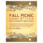 Fall Picnic Chruch Flyer