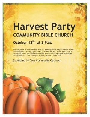 Harvest Celebration Church Flyer Template Templates