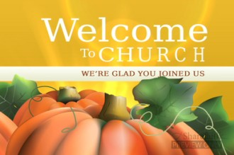 Pumpkin Welcome Worship Video Loop