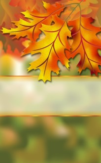 Autumn Leaves Church Bulletin