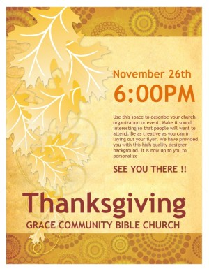 Thanksgiving Church Flyer