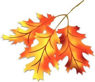 Three Fall Leaves Clipart
