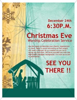 Christmas Eve Service Church Flyer