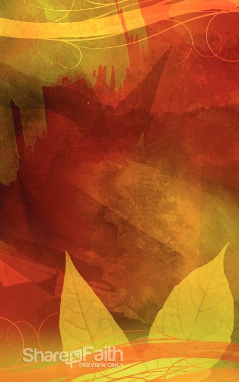 Fall Leaves Program Cover Harvest Fall Church Bulletin