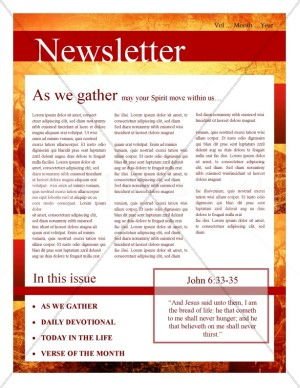 Fall Leaves Church Newsletter