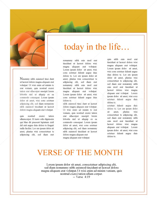 Pumpkin Church Newsletter