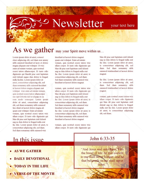 Ministry Newsletter for Fall
