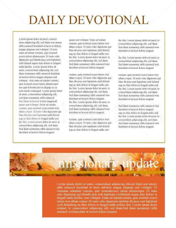 Thanksgiving Church Newsletter Template Newsletter Templates